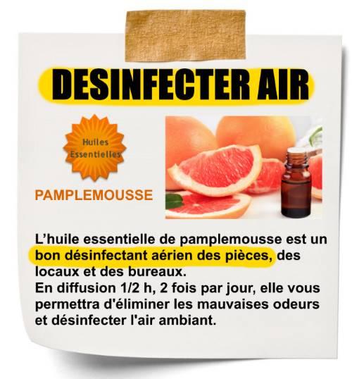 désinfecter air avec huile essentielle de pamplemousse