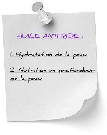 huile anti ride hydratation nutrition