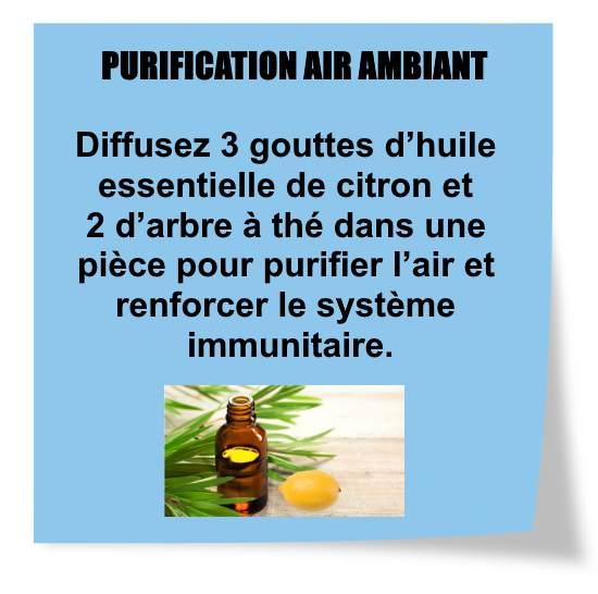 huile essentielle citron purification air