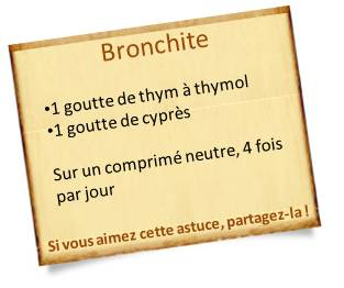 huile essentielle thym bronchite