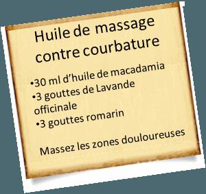 huile de massage contre courbature musculaire