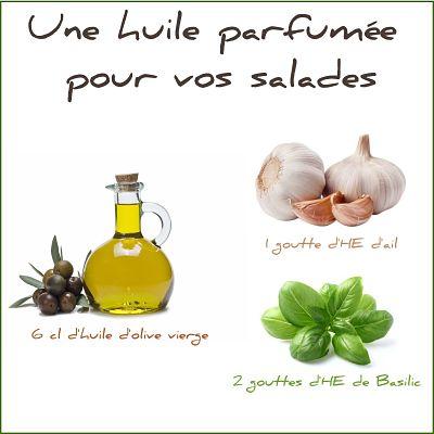 huile d'olive ail basilic