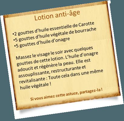 huile d'onagre anti âge