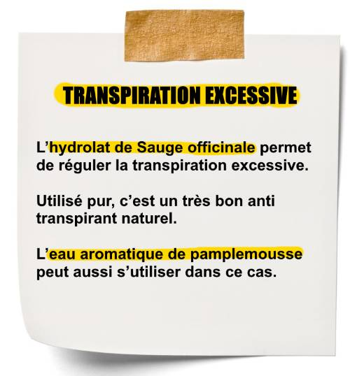 hydroalt d'huile essentielle pour transpiration excessive