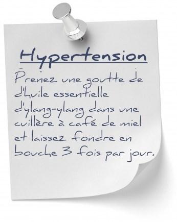 hypertension huile essentielle ylang-ylang