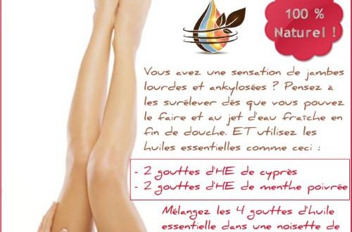 jambes lourdes huiles essentielles