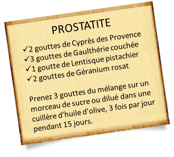 lentisque pistachier prostatite