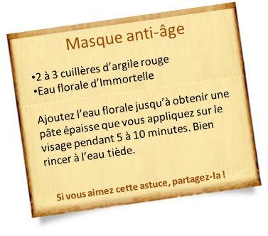 masque anti âge eau florale