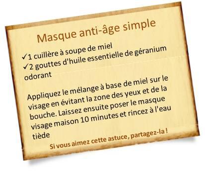 masque anti-âge au miel