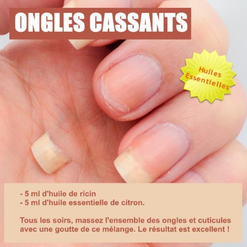 ongles cassants huile essentielle