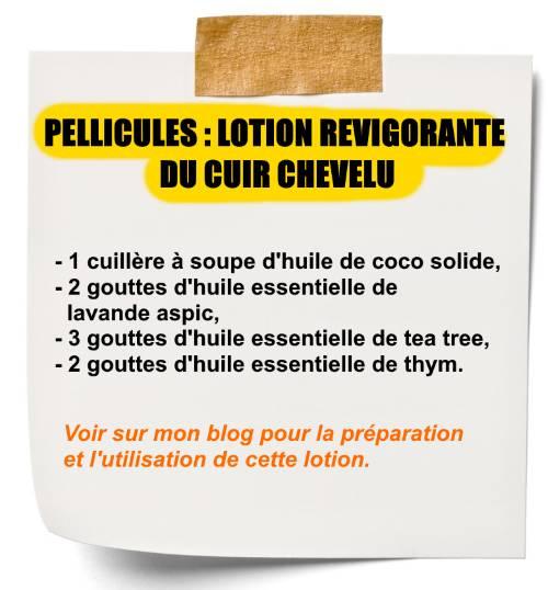 lotion revigorante aux huiles essentielles contre les pellicules