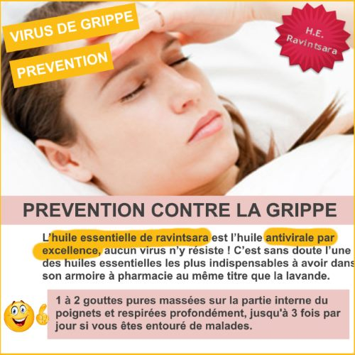 prévention grippe ravintsara huile essentielle