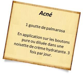 recettes naturelles peau avec l'acné
