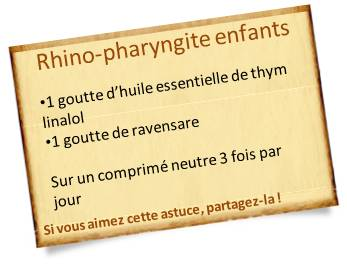 rhino-pharyngite huile de thym