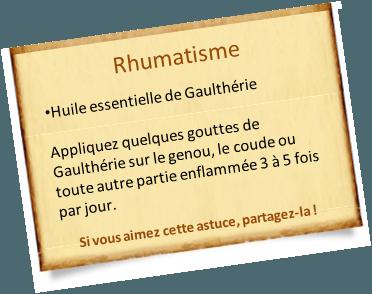 rhumatisme gaultherie