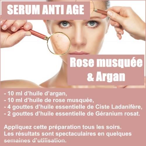 sérum anti âge à l'huile de rose musquée