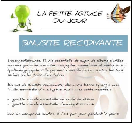 sinusite recidivante huile essentielle