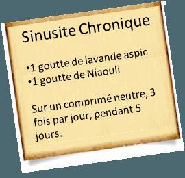 soigner une sinusite chronique