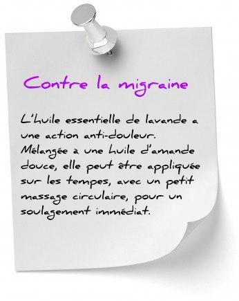 soulager migraine lavande