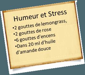 stress et lemongrass