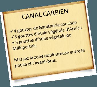 syndrome du canal carpien gaulthérie