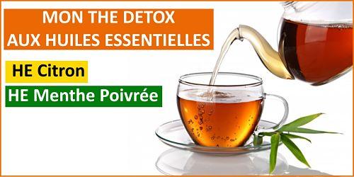 thé detox aux huiles essentielles