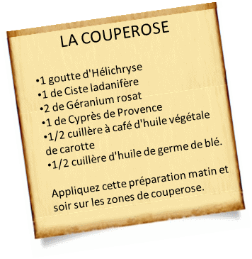 huile vegetale couperose