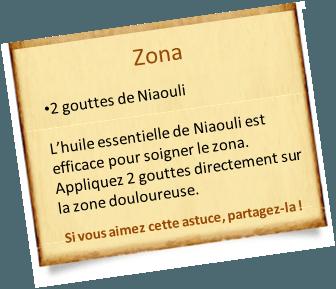 traitement zona avec l'huile essentielle de niaouli