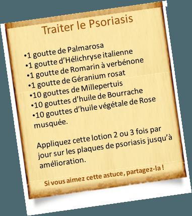 lotion de traitement du psoriasis